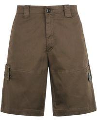 C.P. Company Cotton Bermuda Shorts - Green