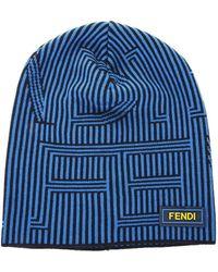 Fendi - Wool Knit Beanie Hat - Lyst