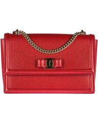 Ferragamo Ginny Shoulder Bag - Red