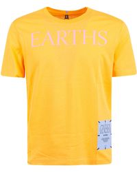 McQ Logo Printed Round Neck T-shirt - Yellow