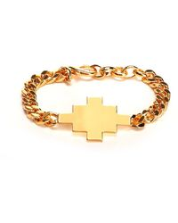Marcelo Burlon Cross Charm Chain Bracelet - Metallic