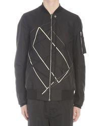 Rick Owens Embroidered Bomber Jacket - Black
