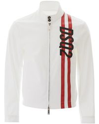 DSquared² Striped Motif Jacket - White