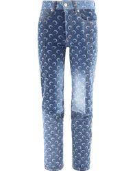 Marine Serre Moon Print Jeans - Blue