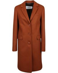 Calvin Klein Single Breasted Coat - Red