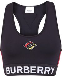 Burberry Logo Sports Bra - Black