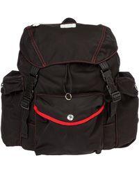 Gcds Contrast Stitching Logo Backpack - Black
