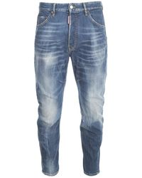 DSquared² Faded Tapered Jeans - Blue