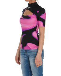 Off-White c/o Virgil Abloh Liquid Melt Cut-out Top - Pink