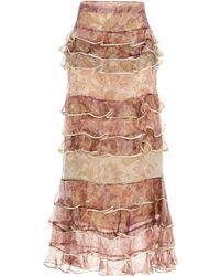 Zimmermann Lucky Tiered Skirt - Multicolor