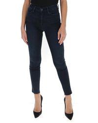 FRAME Le High Frayed Skinny Jeans - Blue