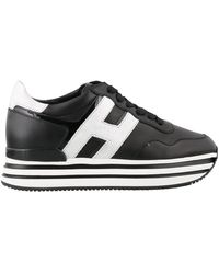 Hogan H222 Leather Sneakers - Black
