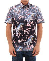Dior Homme Dior X Sorayama Printed Short Sleeved Shirt - Blue