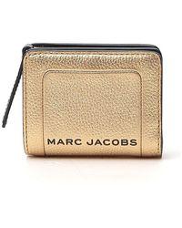 Marc Jacobs Zip-up Logo Wallet - Metallic
