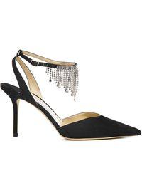 Jimmy Choo - Birtie 85 Crystal-embellished Suede Heeled Sandals - Lyst