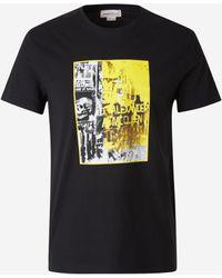 Alexander McQueen Graphic Print T-shirt - Black