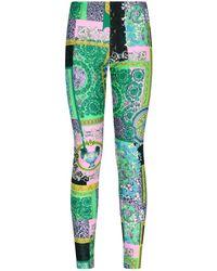 Versace Barocco Printed Leggings - Green