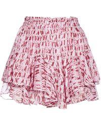 Étoile Isabel Marant Patterned Ruffle Shorts - Pink