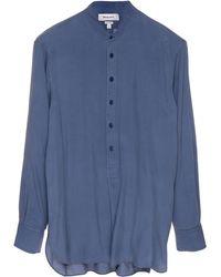 Rochas Mandarin Collared Shirt - Blue