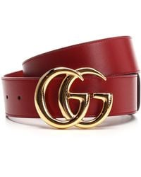 Gucci GG Marmont Buckle Belt - Red