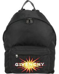 Givenchy Logo Embroidered Backpack - Black