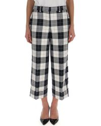 Thom Browne - Checked Crop Trousers - Lyst