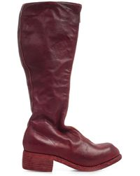 Guidi Pl3 Mid-calf Front Zip Boots - Red