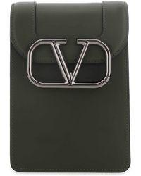Valentino Garavani Garavani Vlogo Messenger Bag - Green
