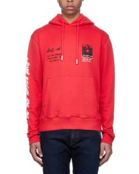 35d8d83f919e Lyst - Off-White c o Virgil Abloh Diagonal Mona Lisa Hoodie in Red ...
