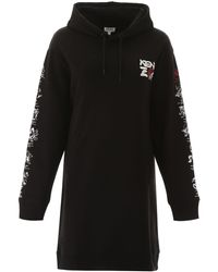 KENZO Oversized Hoodie Dress - Black