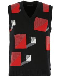 Prada Geometric Print Sleeveless Sweater - Multicolor