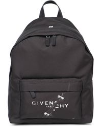 Givenchy Logo Printed Backpack - Black
