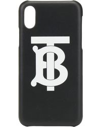 Burberry Logo Iphone X/xs Cover - Black