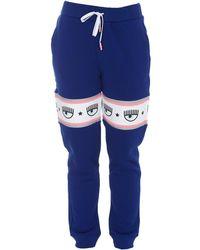 Chiara Ferragni Logo Tape Track Trousers - Blue