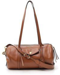 Miu Miu Grace Lux Duffle Bag - Brown