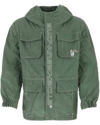 BBCICECREAM Sage Green Cotton Blend K-way Nd Uomo