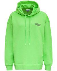 Ganni Isoli Software Organic Cotton Sweatshirt - Green