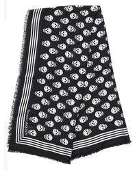 Alexander McQueen All Over Skull Scarf - Black