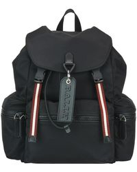 Bally Crew Logo Tag Backpack - Black