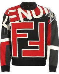 Fendi Logo Printed Sweatshirt - Multicolor