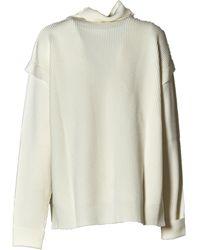 Barena Turtleneck Rib-knit Jumper - White