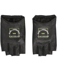 Karl Lagerfeld 215w3605999 Other Materials Gloves - Black