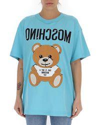 Moschino Teddy Logo T-shirt - Blue