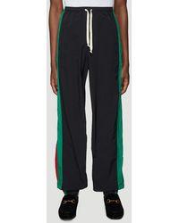 Gucci Contrasting Panelled Jogging Pants - Black
