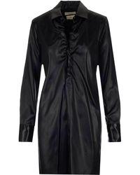 Bottega Veneta Ruched Detail Longline Shirt - Black