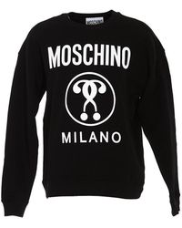 Moschino Questions Logo-print Sweatshirt - Black
