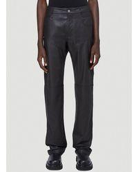 Telfar Leather Panelled Trousers - Black