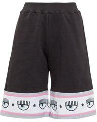 Chiara Ferragni Maxi Logomania Bermuda Shorts - Black