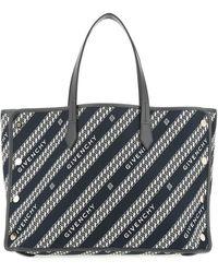 Givenchy Medium Bond Chain Jacquard Tote - Black