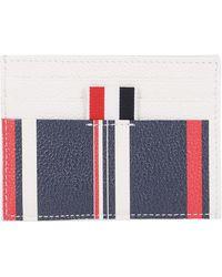 Thom Browne Rwb Stripe Cardholder - Blue